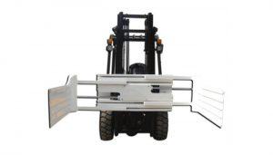Hatékony hidraulikus forgó bálabilincs targoncához