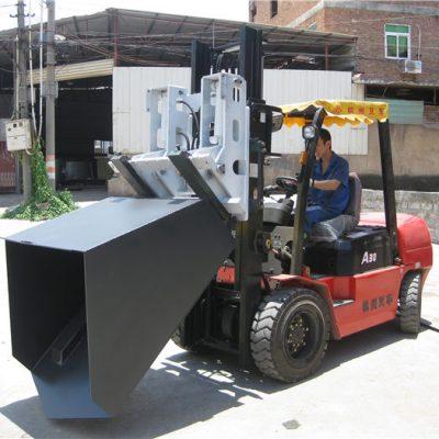 3 tonnás Hyundai dízel targoncával felszerelt vödör csuklós villával és vödörrel