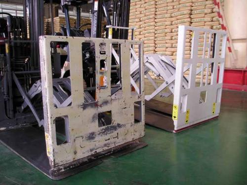 A Forklfit Push Push Attachment használata cementben